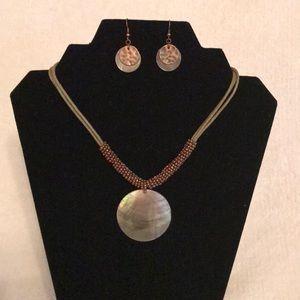 Lia Sophia Necklace & Earring set
